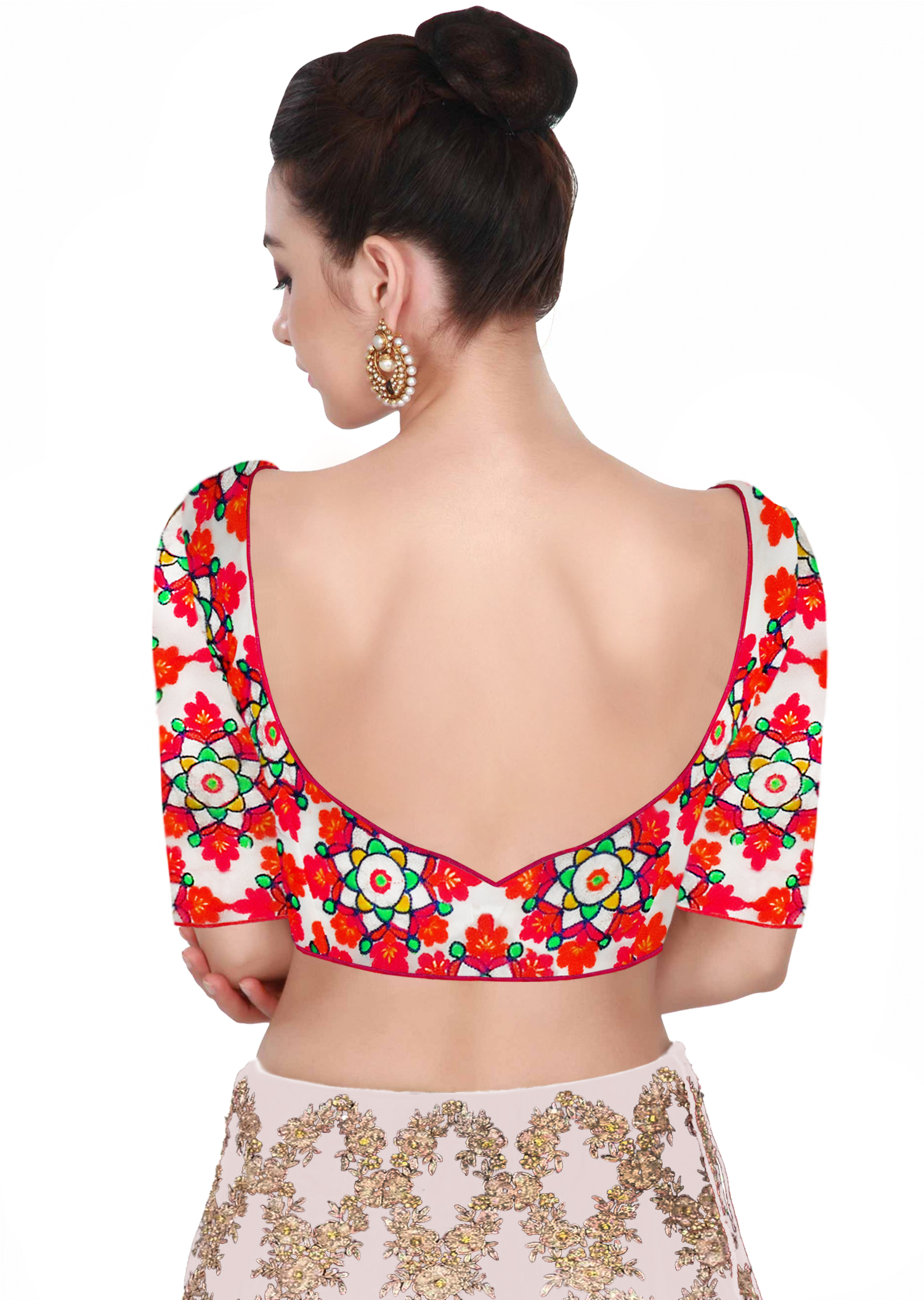 Backless Blouse For Party