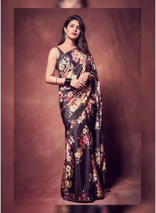 Floral Printed Designer Saree