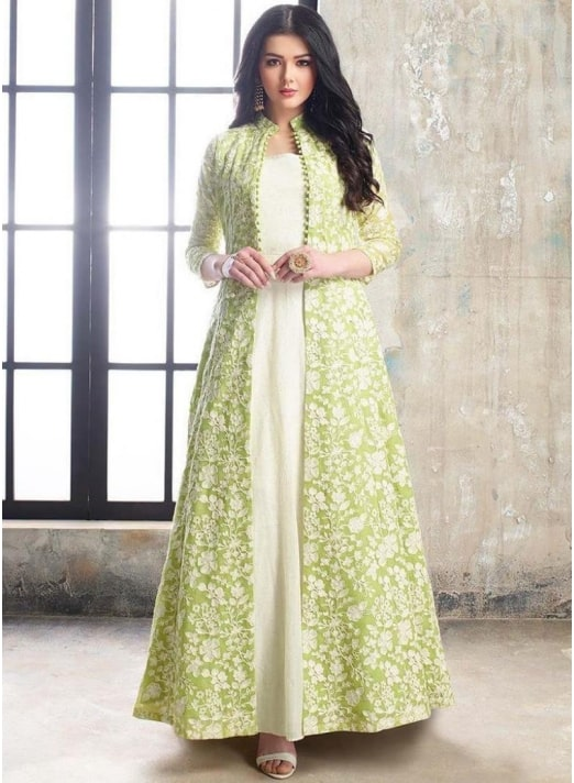 Palazzo Salwar Suit Teamed Up With A Chic Jacket